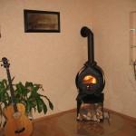 Ein Bullerjan Ofen im Wohnzimmer